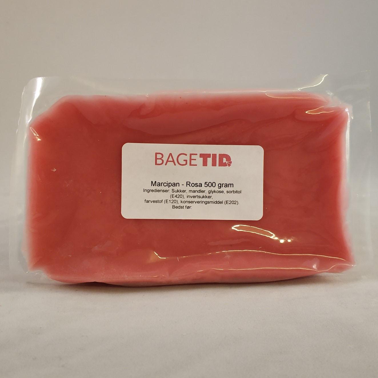 Image of   Bagetid marcipan rosa 500 g.