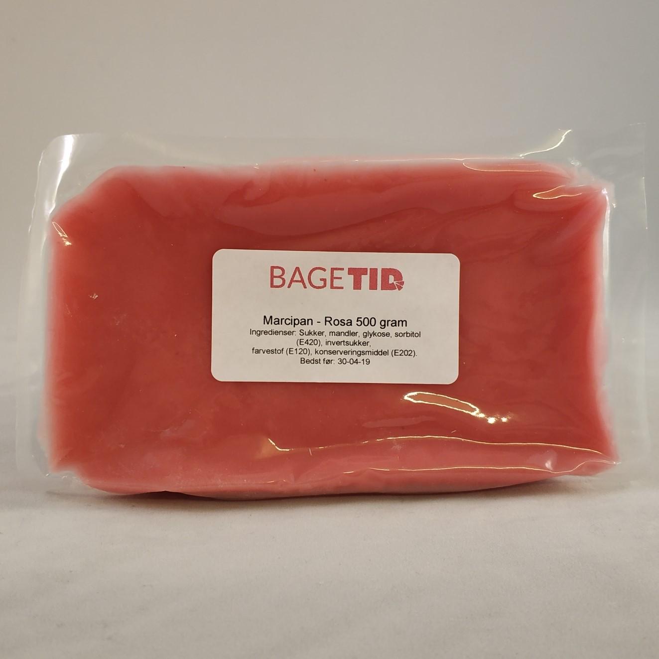 Image of   Bagetid marcipan rosa 500 gr.