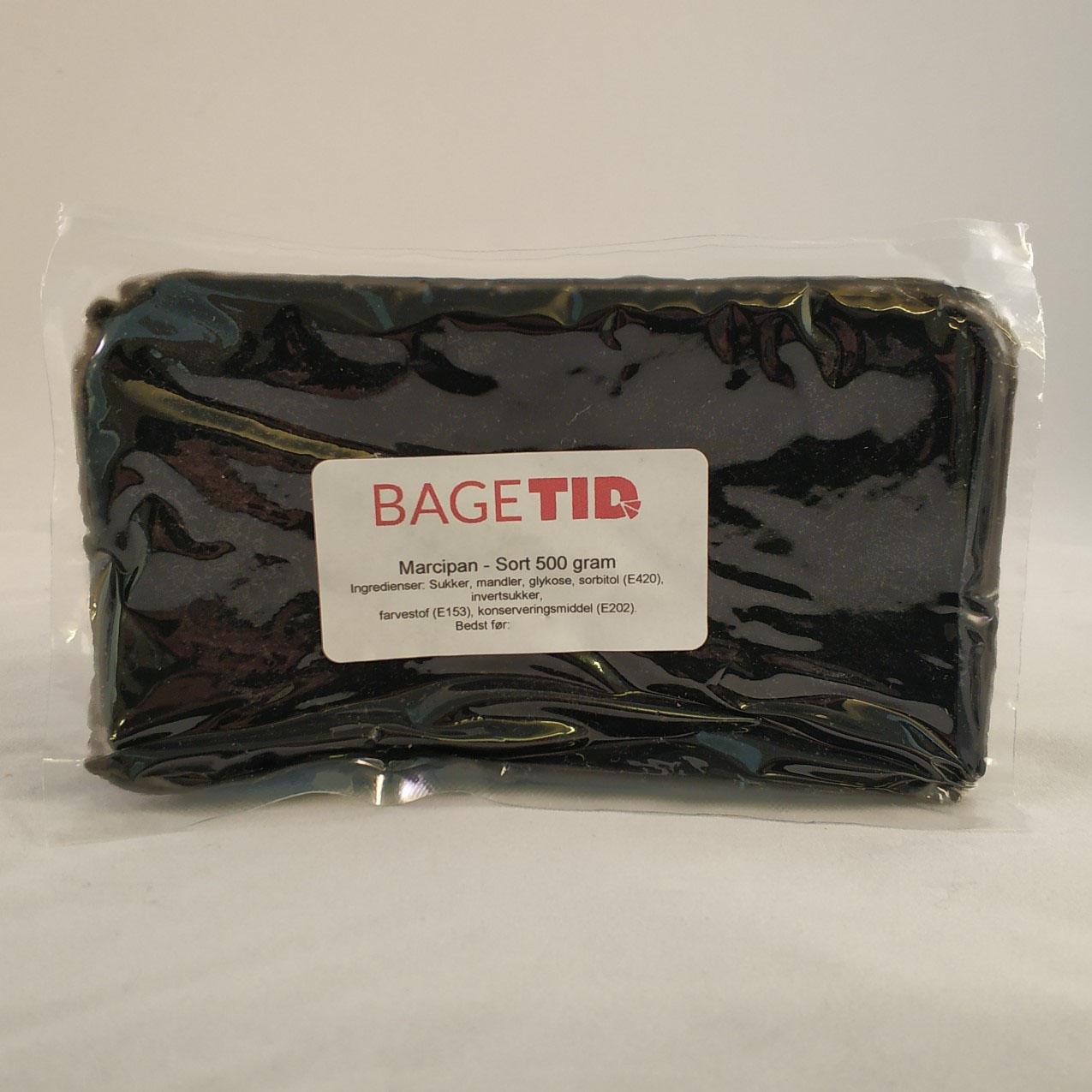 Image of   Bagetid marcipan sort 500 gr