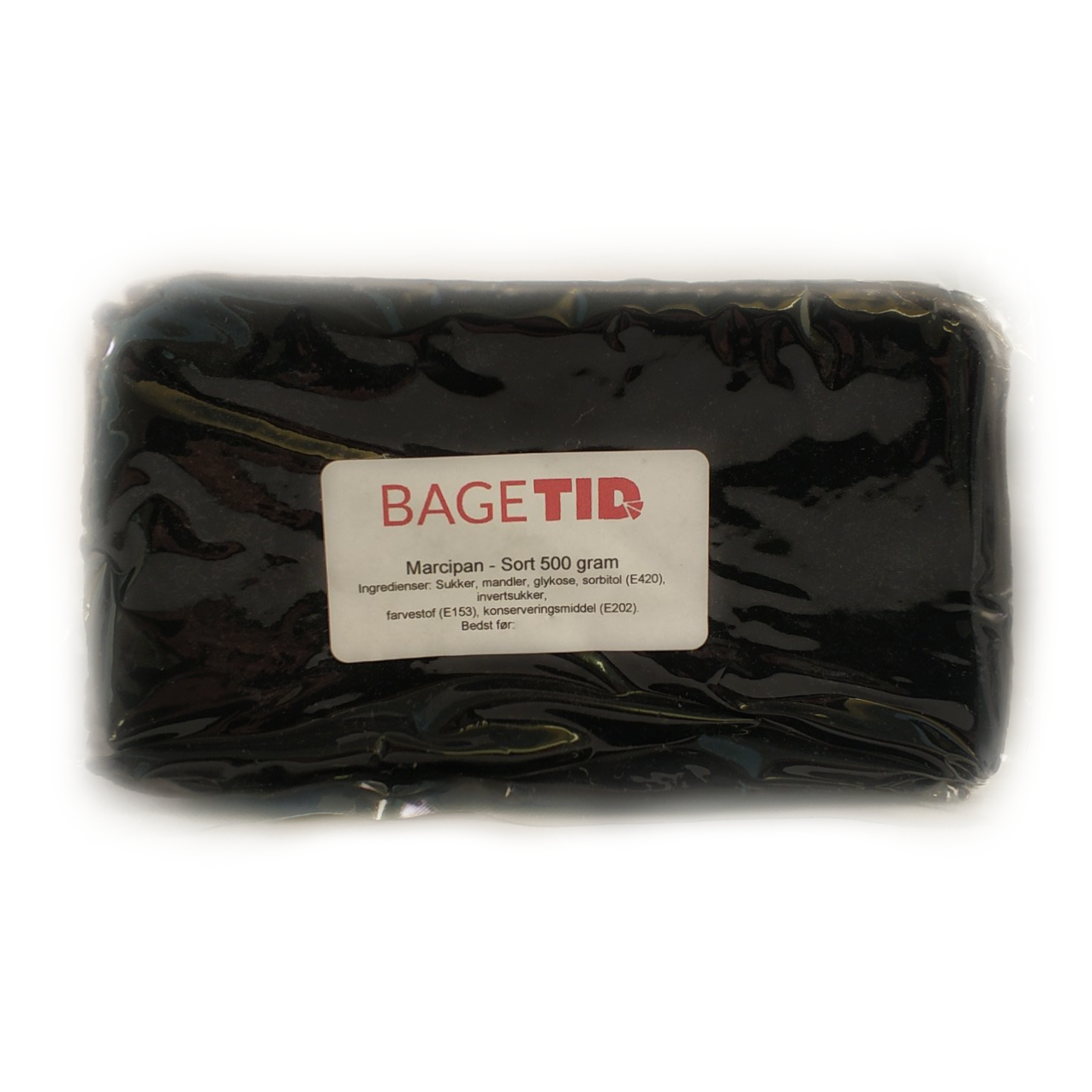 Image of   Bagetid marcipan sort 500 gr