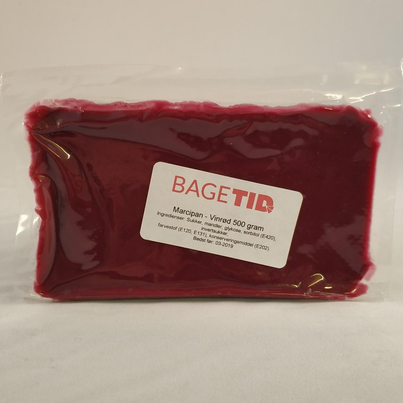 Image of   Bagetid marcipan vinrød 500 gr.