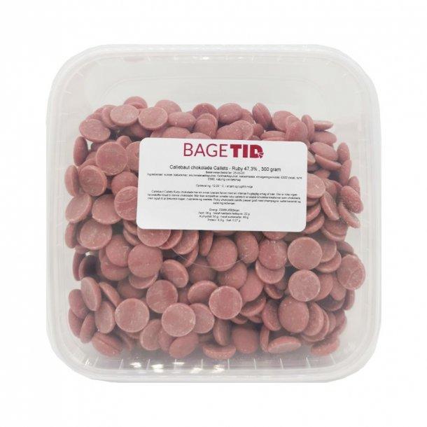 Callebaut chokolade Callets - Ruby 47,3% , 300 gram