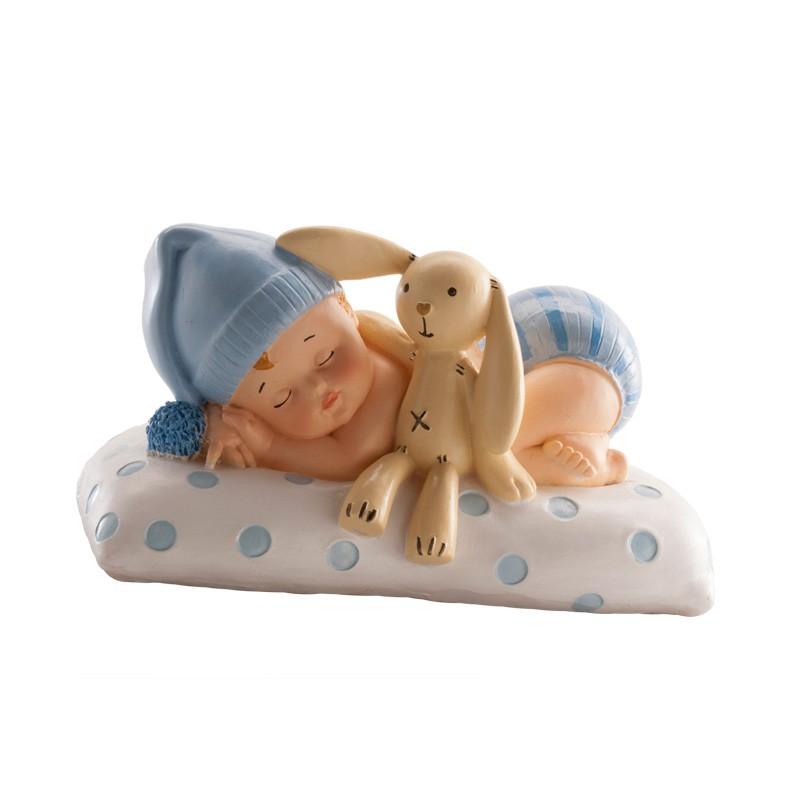Image of Baby top figur med kanin, blå