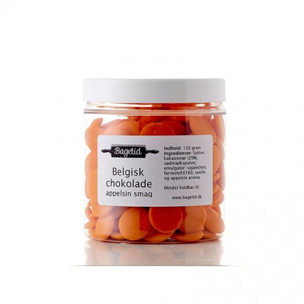 Belgisk chokolade orange appelsin - 150 gram