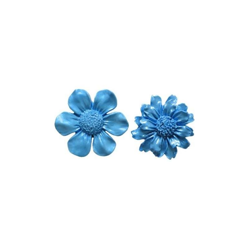 Silikoneform blomster (2 stk.)