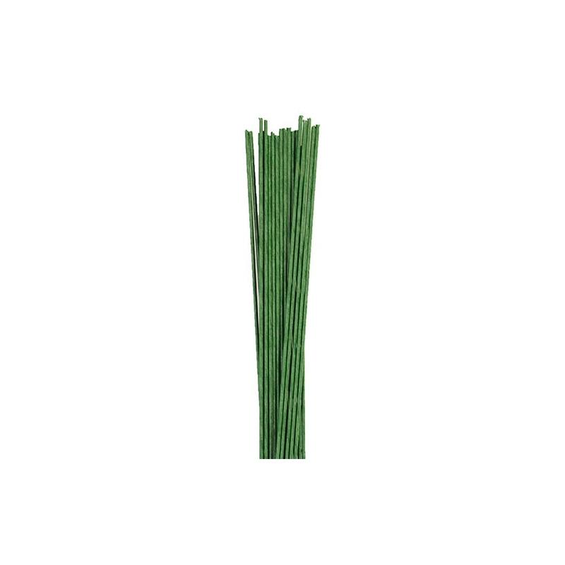 Image of   Blomstertråd - mørk grøn, str. 30 (50 stk.)