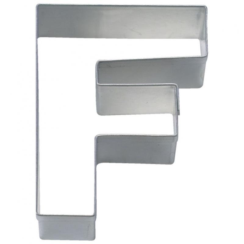 Bogstav udstikker F, 6,5 cm