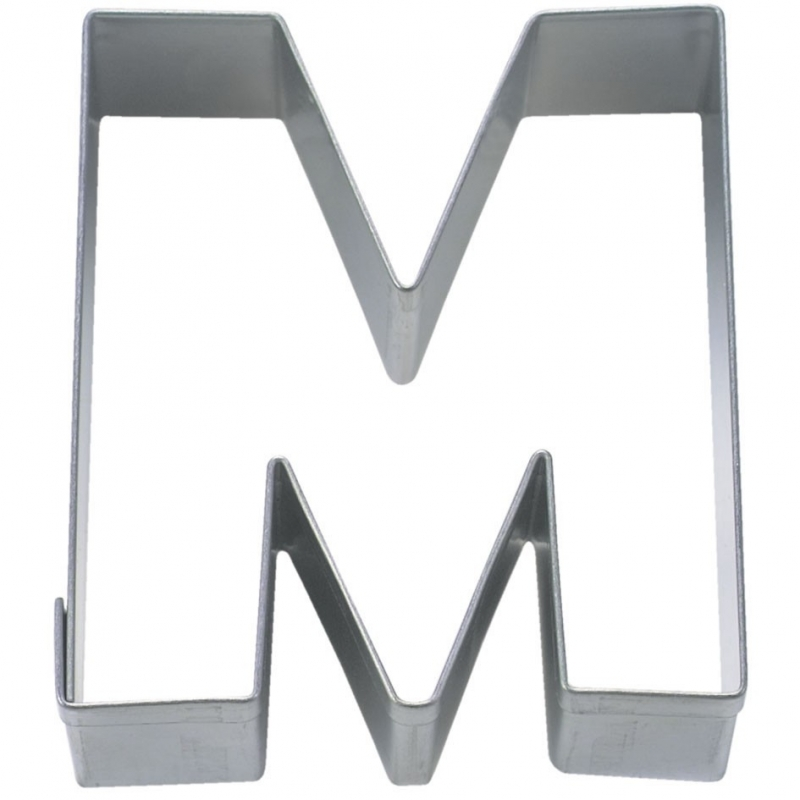 Bogstav udstikker M, 6,5 cm