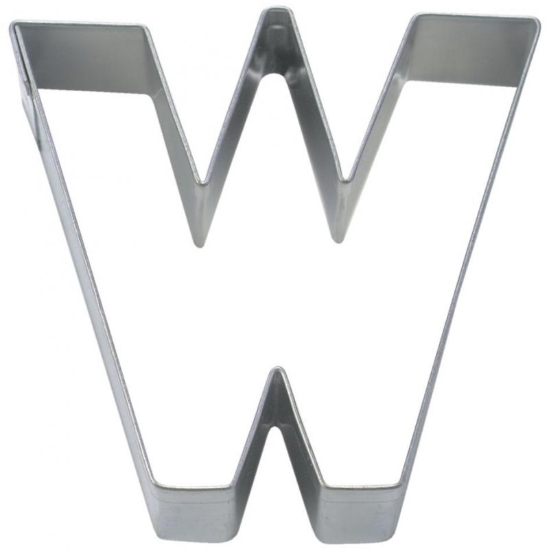 Bogstav udstikker W, 6,5 cm