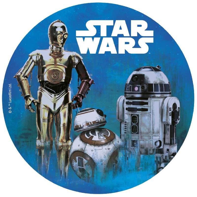 Sukkerprint vaffelpapir Star Wars – ø 20 cm.