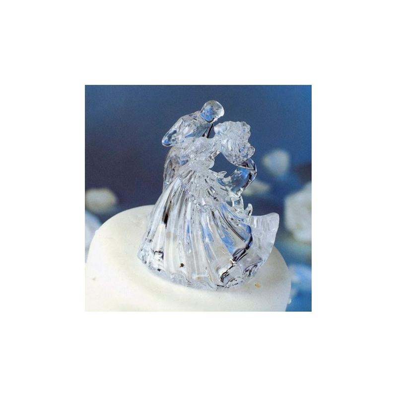 Image of   Brudepar topfigur, klar akryl - ca. 10 cm