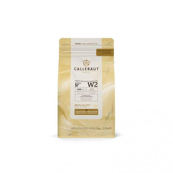Callebaut hvid chokolade 28 % kakao, 1 kg.