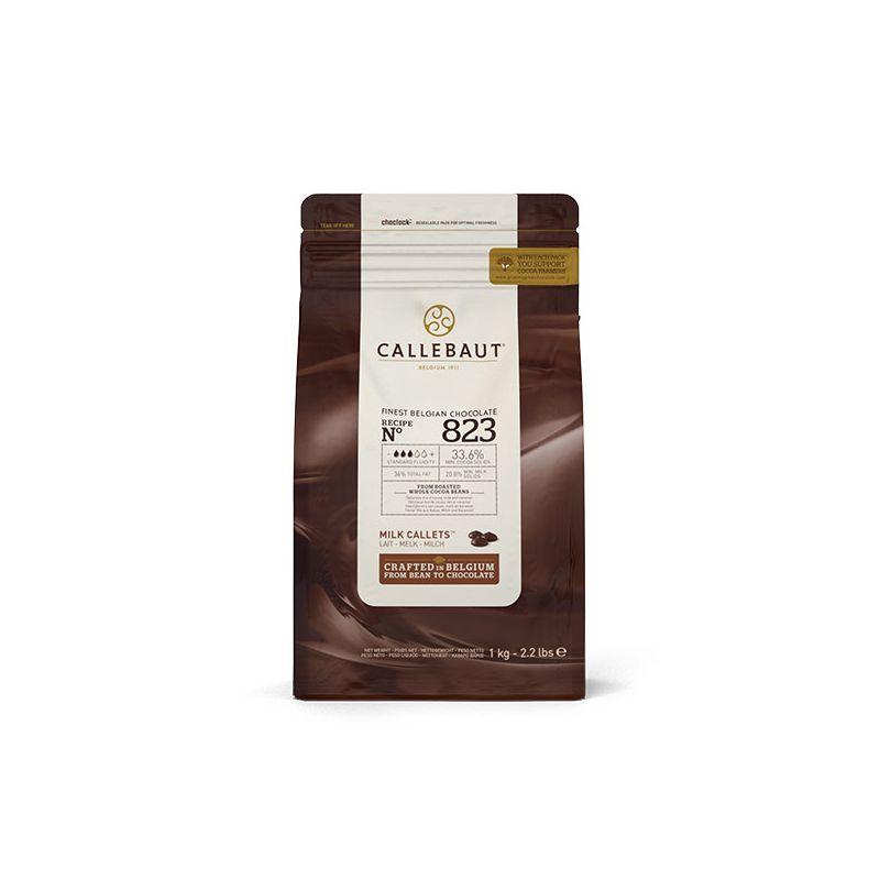 Image of   Callebaut lys chokolade 33,6 % kakao, 1 kg.