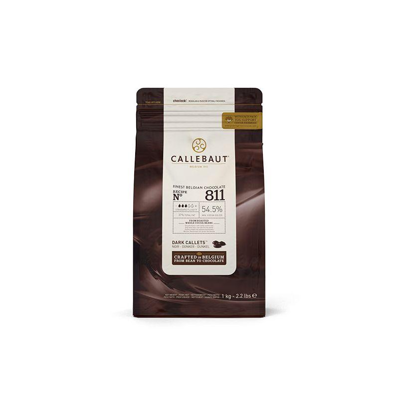 Image of   Callebaut mørk chokolade 54,5 % kakao, 1 kg.