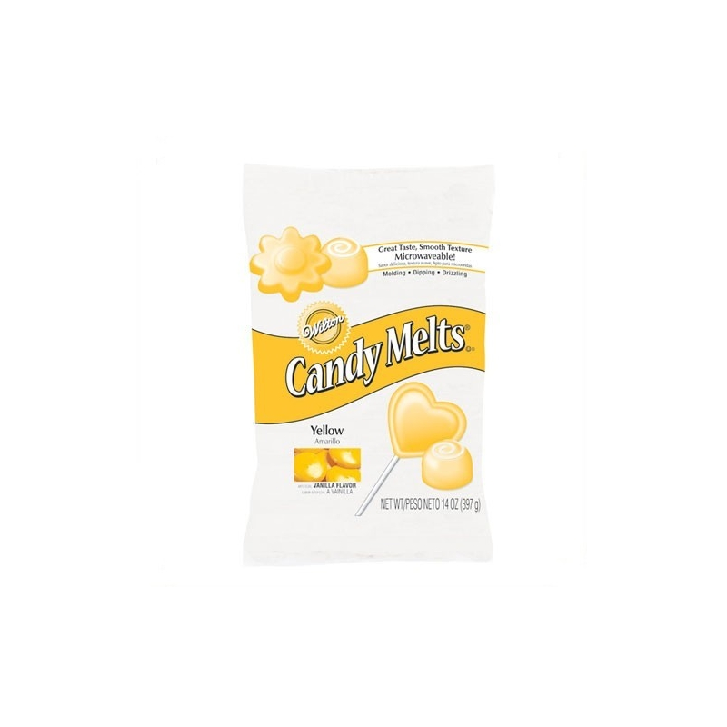 Image of   Candy Melts gul - 335 gram