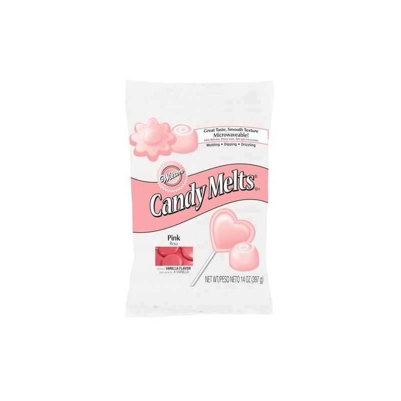 Image of   Candy Melts lyserød - 335 gram