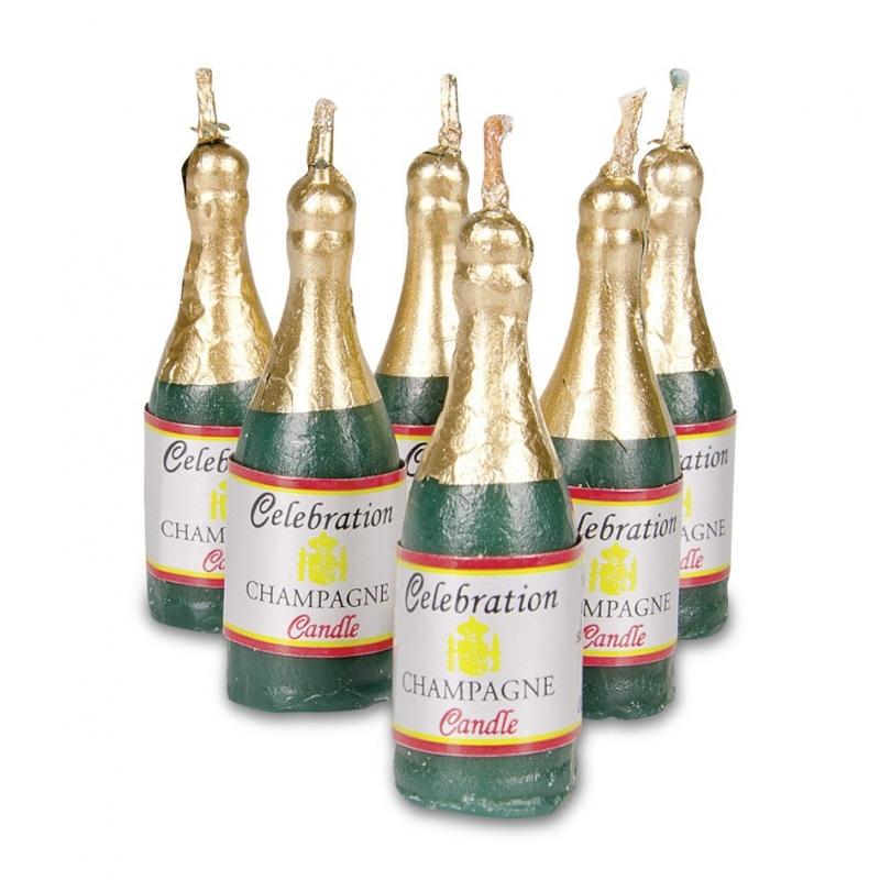 Image of   Champagne kagelys (6 stk.)