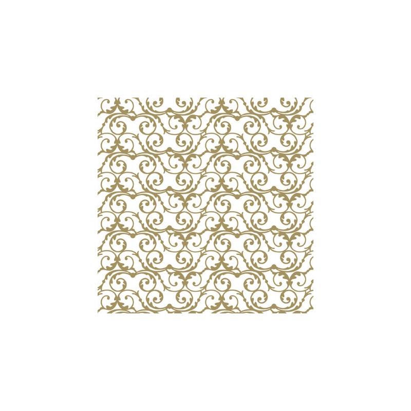 Image of   Chokolade transfer papir, guld barokmønster (2 stk.)