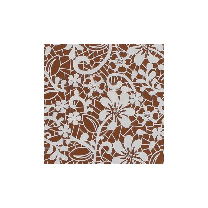 Image of   Chokolade transfer papir, hvide blomster (2 stk.)