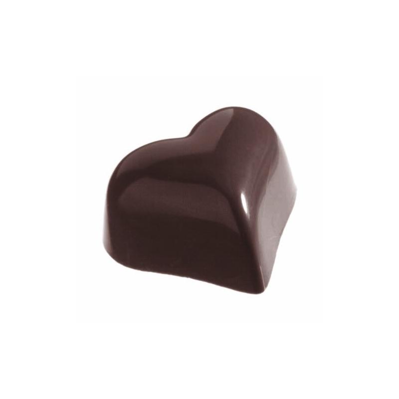 Image of   Professionel chokoladeform i hård plast, hjerte