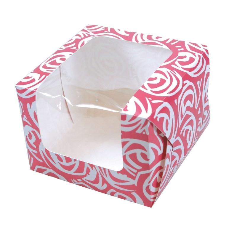 Image of   Cupcake/muffins æske til 1 kage - roser