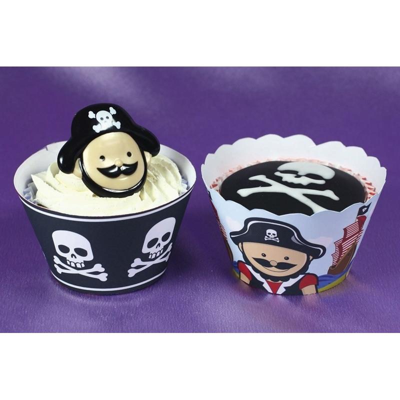 Image of   Cupcake wraps pirat (12 stk.)