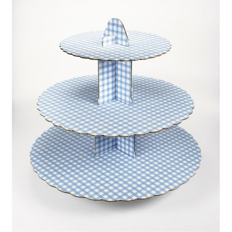 Image of   Cupcakes kagestativ lyseblå - 3 etager