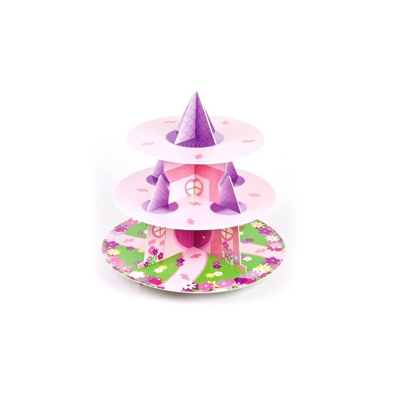 Image of   Cupcakes kagestativ prinsesse - 3 etager