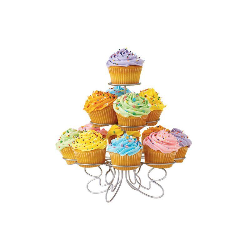 Image of   Cupcakes stativ - sølv, til 13 stk.