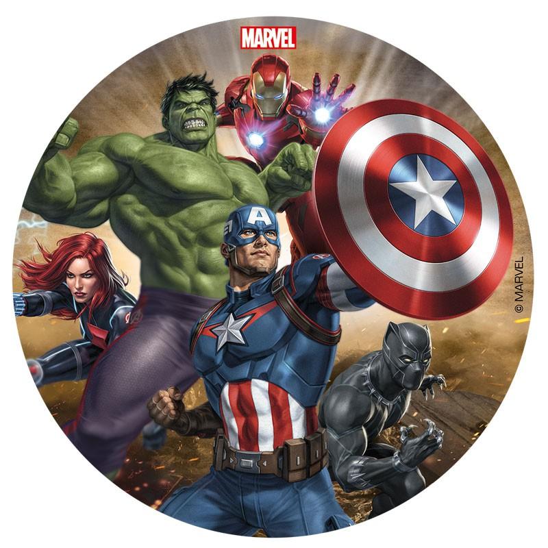 Sukkerprint Avengers – ø 16 cm.