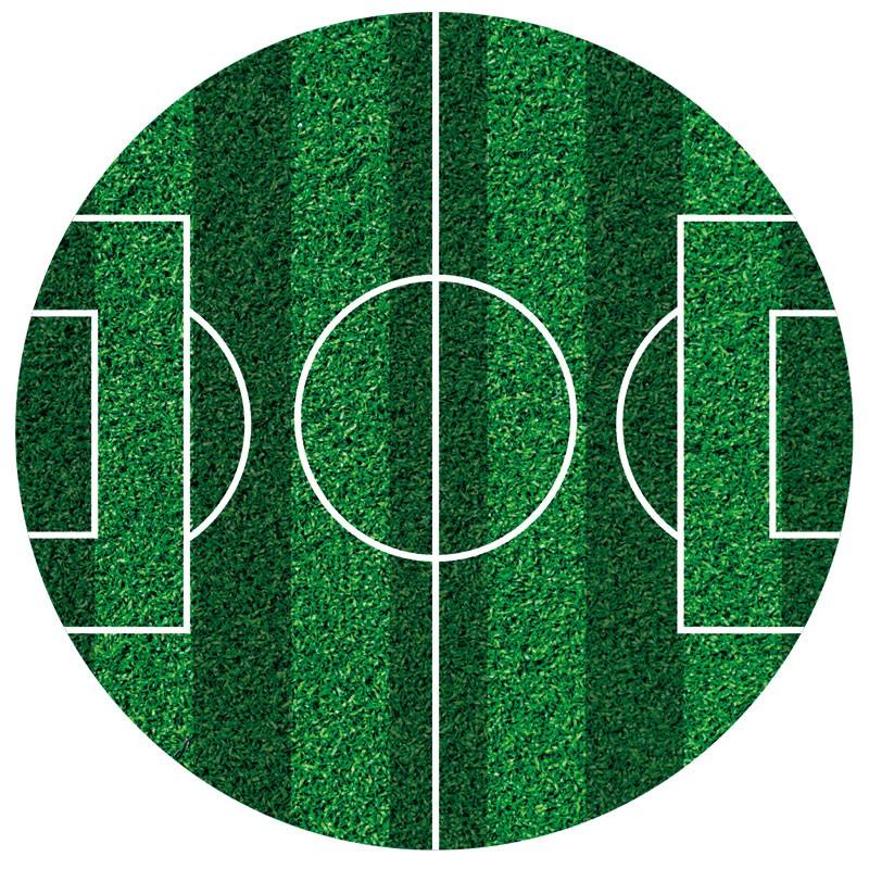 Image of   Spiseligt papir fodboldbane - 16 cm ø