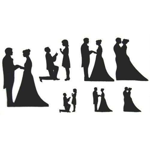 Patchwork Cutter Bryllupssilhuetsæt
