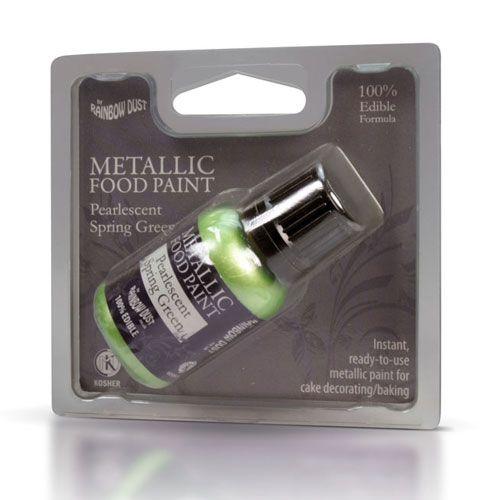 Image of   Metallisk Spiselig maling lysegrøn - 25 ml