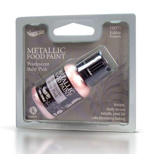 Image of   Metallisk Spiselig maling lyserød - 25 ml