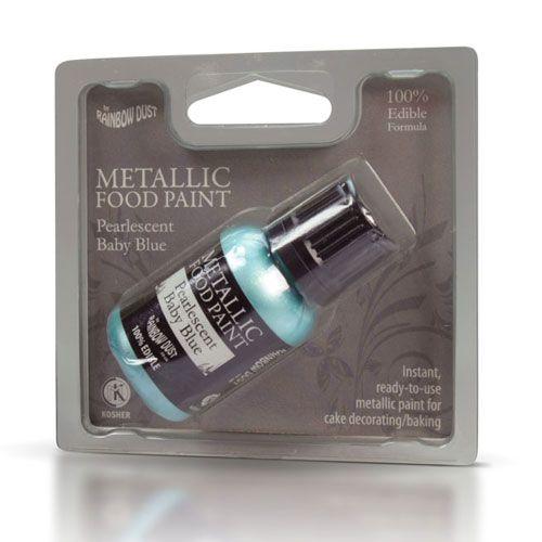 Image of   Metallisk Spiselig maling lyseblå - 25 ml