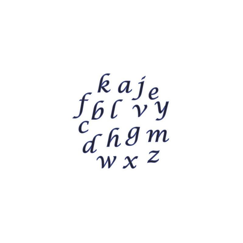 Udstikkersæt små kursive bogstaver