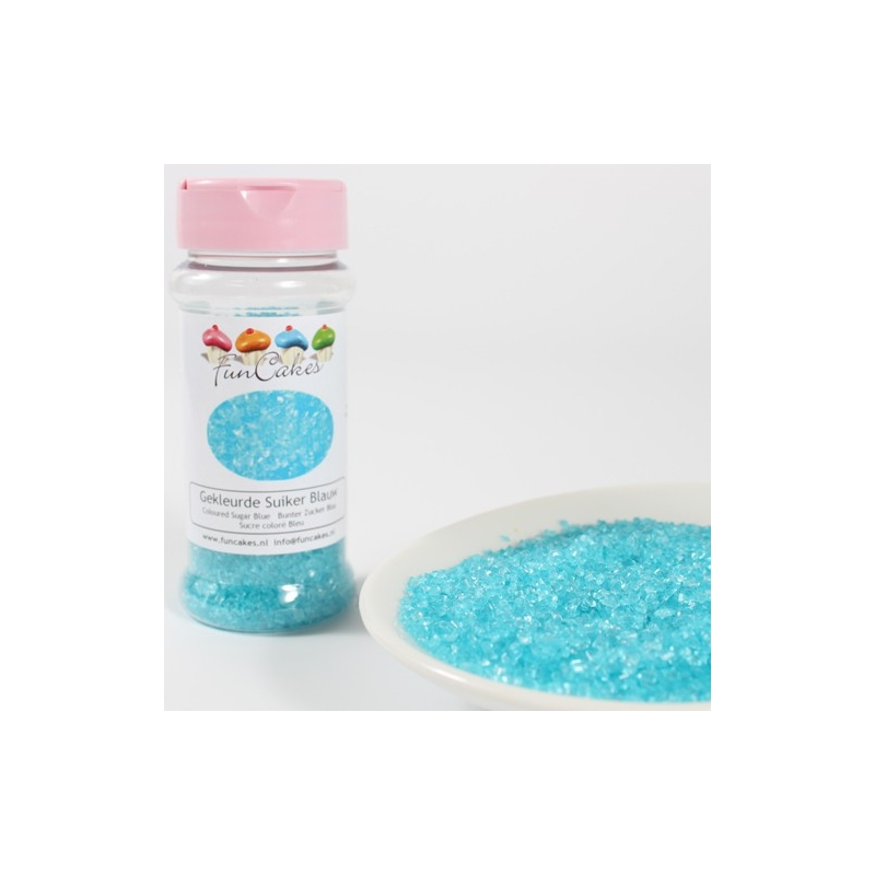 Image of   Farvet sukker blå - 80 gram