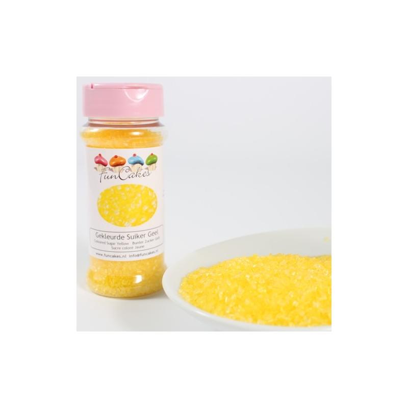 Image of   Farvet sukker gul - 80 gram