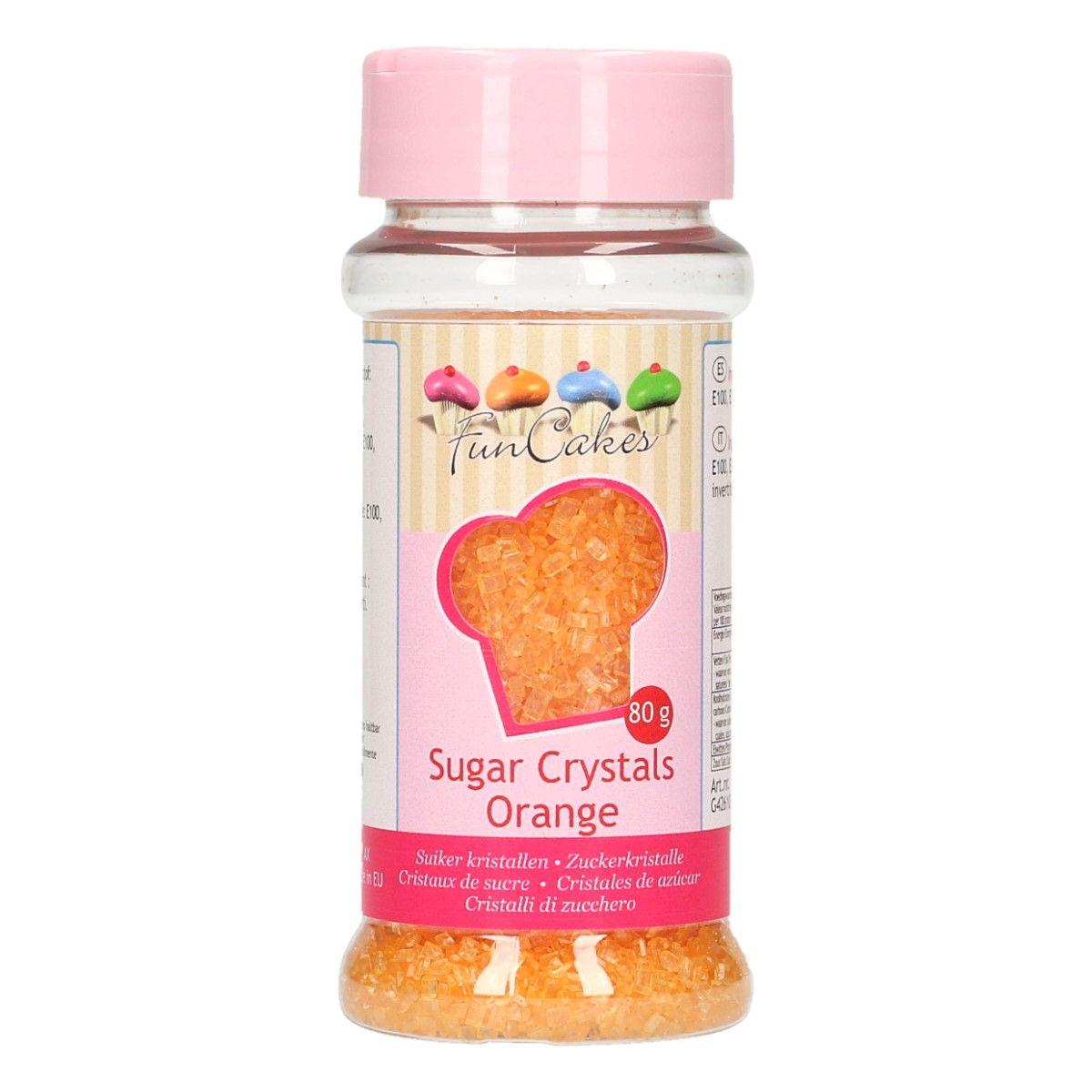 Image of   Farvet sukker orange - 80 gram