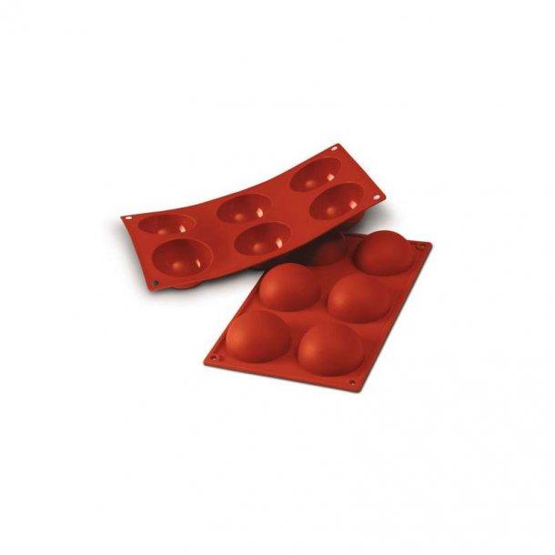 Halvkugle form silikone, ø70x35 mm (6 stk.)