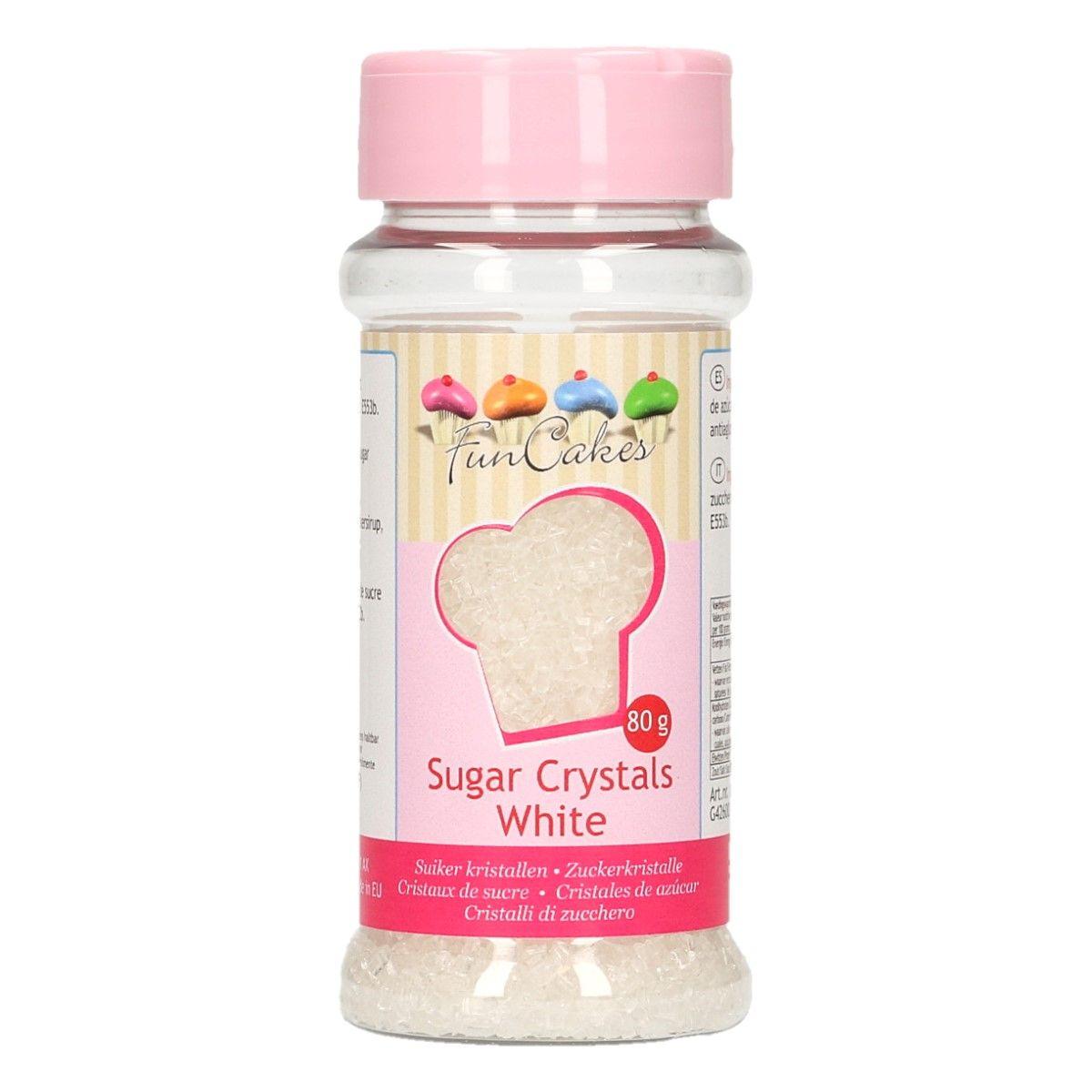 Image of   Farvet sukker hvid - 80 gram