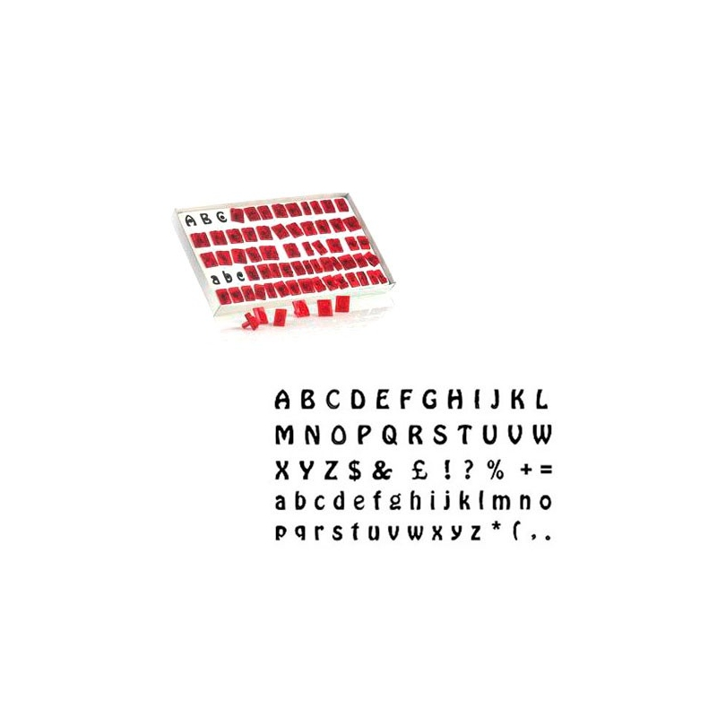 Udstikkersæt bogstaver og tegn (64 dele)