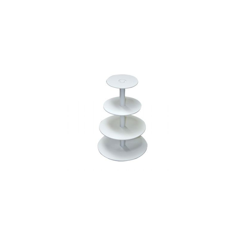 Image of Kageopsats 4 etager - hvid plast