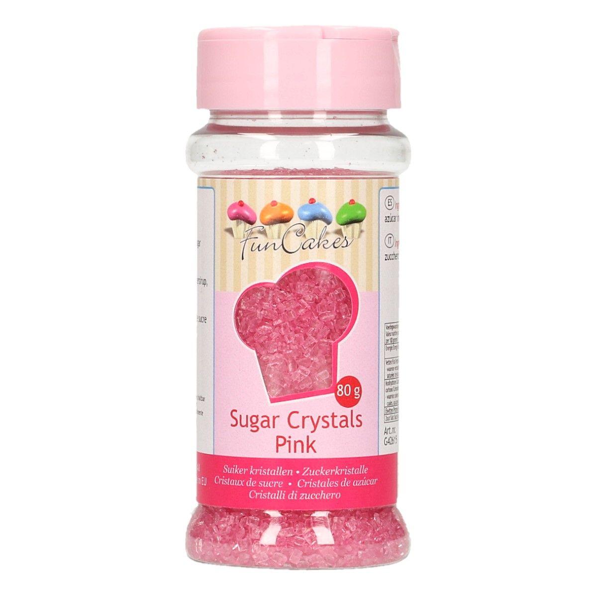 Image of   Farvet sukker lyserød - 80 gram