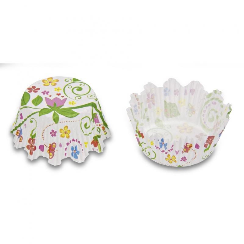 Mini muffinsforme blomster (100 stk.)