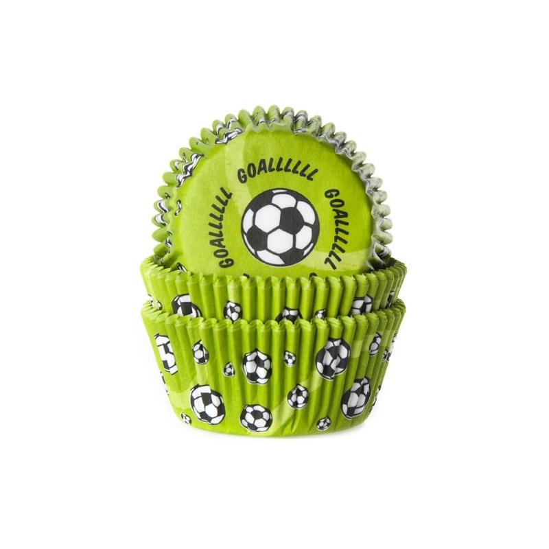 Image of   Muffinsforme fodbold - ekstra tykt papir (50 stk.)