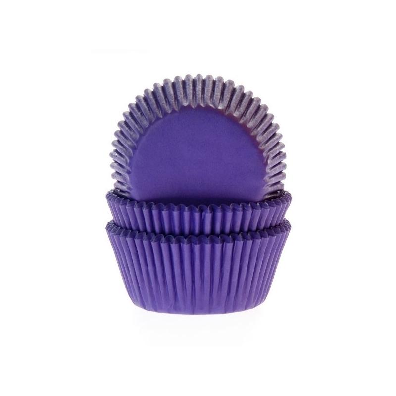 Muffinsforme lilla - ekstra tykt papir (50 stk.)