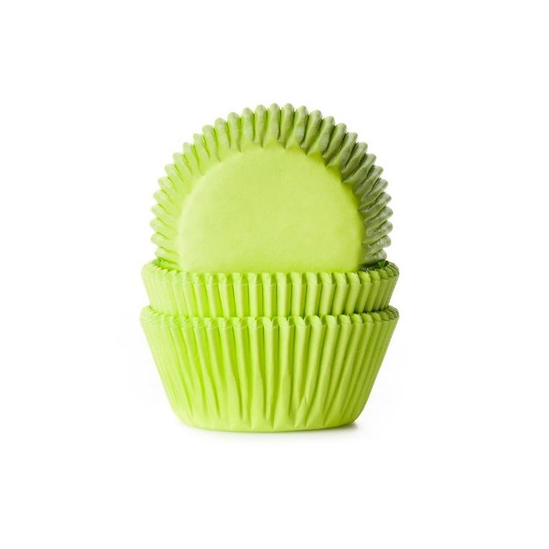 Muffinsforme limegrøn - ekstra tykt papir (50 stk.)