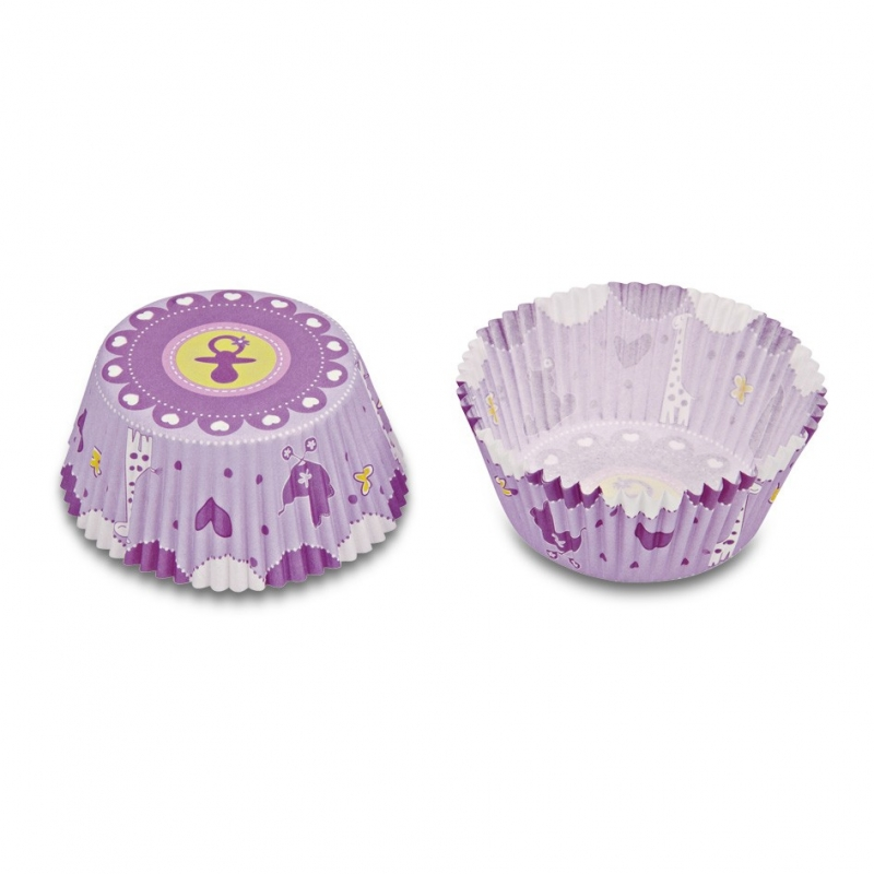Muffinsforme baby pink (50 stk.)