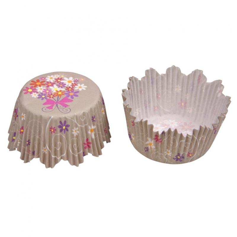 Muffinsforme blomster (100 stk.)